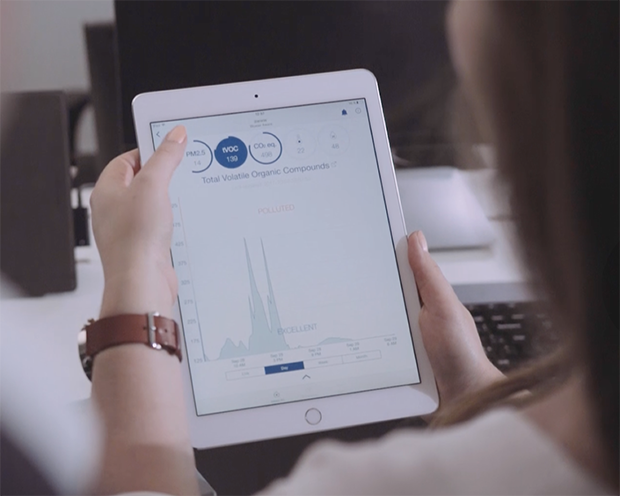 Blueair Real time indoor air quality tracking